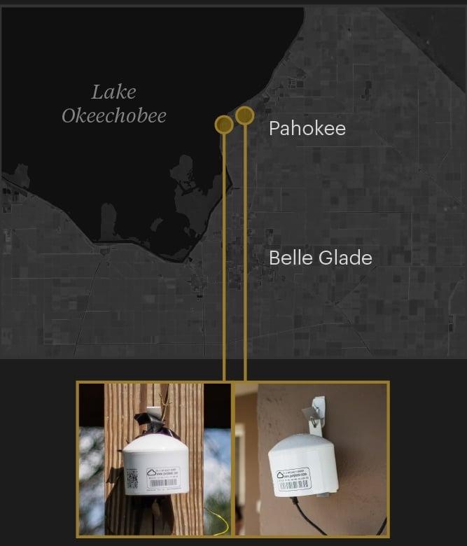 PostとProPublicaは、杖を燃やす季節にパホーキーの2つの家に設置された低コストの空気センサーからのデータを分析しました。