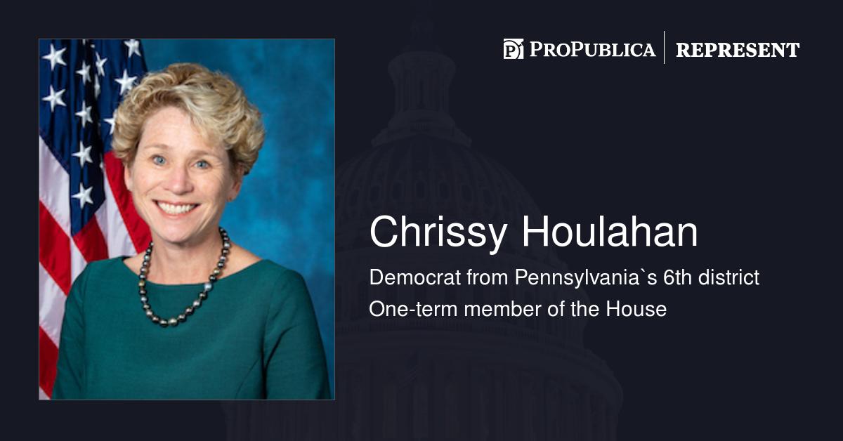 Chrissy Houlahan (D-Pa.) | Represent | ProPublica