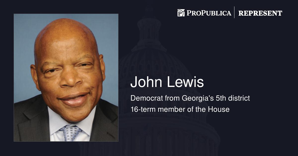 Bills sponsored by john lewis d ga represent propublica - John lewis shopkins ...
