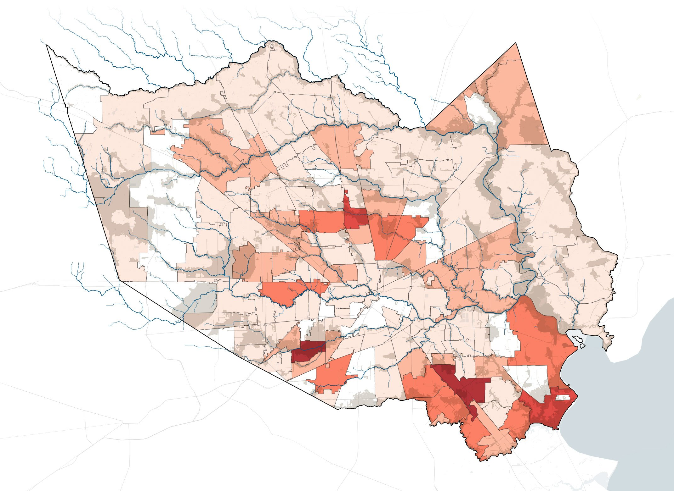Where Harvey is hitting hardest, 80 percent lack flood insurance